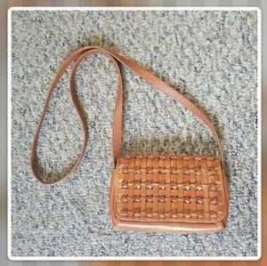 Vintage ETIENNE AIGNER tan cognac crossbody purse